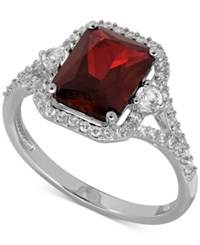 Macy's Lab Created Ruby 3 1 10 Ct. T.W. And White Sapphire 3 8 Ct. T.W. Ring In Sterling Silver