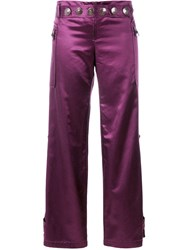 Romeo Gigli Vintage Wide Legged Cropped Trousers Pink And Purple