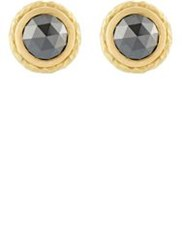 Malcolm Betts Black Diamond Circular Stud Earrings Colorless