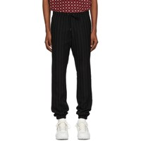 Saint Laurent Black Striped Wool Trousers