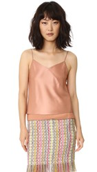 Edun Shiny Twill Satin Bias Camisole Rose