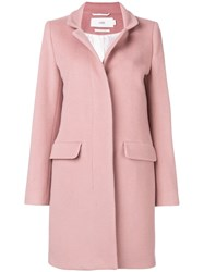 Closed Classic Tailored Coat Pink And Purple