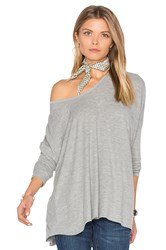 Wildfox Couture Long Sleeve Top Gray