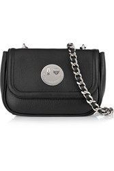 Hill And Friends Happy Chain Textured Leather Shoulder Bag Black