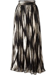 Ungaro Emanuel High Rise Flared Skirt Black