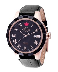 Gv2 46Mm Scacchi Men's Watch W Leather Strap Black