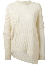 Stella Mccartney Chunky Knit Jumper Nude Neutrals