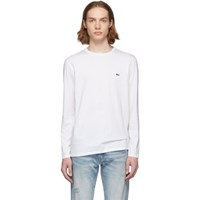 Lacoste White Classic Pima Logo Long Sleeve T Shirt