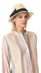 Kate Spade New York Crochet Crushable Fedora Natural