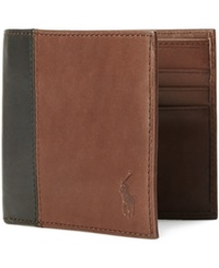 Polo Ralph Lauren Two Toned Leather Billfold Mahogany