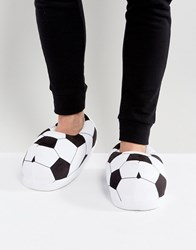Asos Football Slippers In Black And White Multi