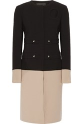 Derek Lam Two Tone Crepe Coat Black