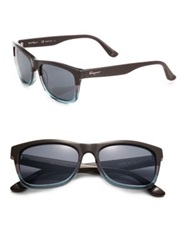 Salvatore Ferragamo 55Mm Wayfarer Sunglasses Tortoise Aqua Brown