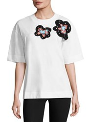 Marni Floral Cotton Tee White