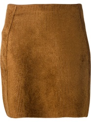 Sonia Rykiel Fitted Mini Skirt Brown