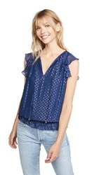 Ramy Brook Cecily Blouse Spring Navy