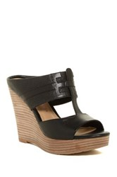 Elaine Turner Designs Katie Leather Cutout Mule Black