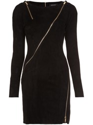 Jitrois Longsleeved Allover Zipper Dress Black