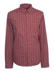 Pretty Green Men's Slim Fit Rindle Shirt Red