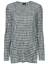 Kitx Check Printed Blouse Black