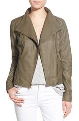 Marc New York Women's By Andrew 'Felix' Stand Collar Leather Jacket Moss