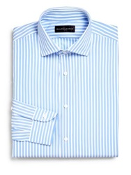 Ralph Lauren Black Label Classic Fit Striped Bond Dress Shirt Blue