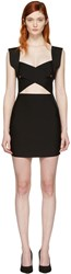 Balmain Black Criss Cross Knit Dress