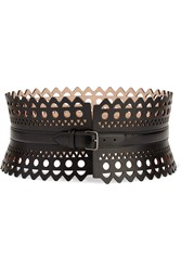 Alaia Vienne Laser Cut Leather Waist Belt