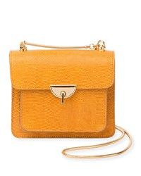 Dries Van Noten Embossed Leather Crossbody Bag With Chain And Turn Lock Gold