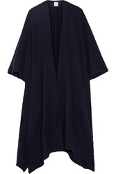 Madeleine Thompson Ribbed Cashmere Wrap Navy