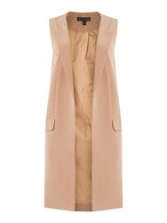 Lipsy Waistcoat With Long Pockets Camel