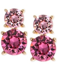 Anne Klein Swarovski Crystal Drop Clip On Earrings Pink