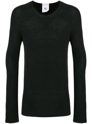 Lost And Found Rooms Ribbed Knit Sweater Black