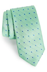 Southern Tide Drayton Dot Silk Tie Green