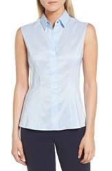 Boss Bashiva Stretch Poplin Shirt French Blue