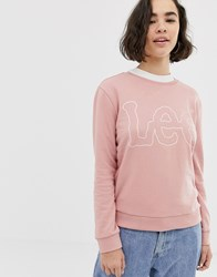 Lee Logo Sweatshirt Pink