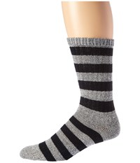 Wigwam Scrum Grey Black Men's Crew Cut Socks Shoes Gray