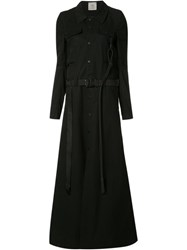 Anne Sofie Madsen Long Flared Coat Black