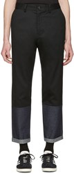 Markus Lupfer Black Panelled Trousers