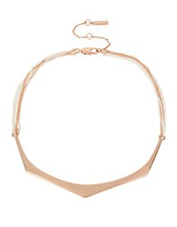 Kenneth Cole Under Construction Two Tone Bar Collar Necklace
