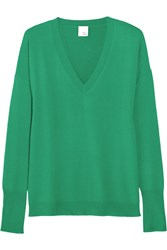 Iris And Ink Coralie Boyfriend Cashmere Sweater Green