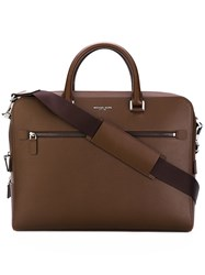 Michael Kors Laptop Bag Men Cotton Leather One Size Brown