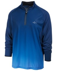 Greg Norman For Tasso Elba Men's Performance Ombre Quarter Zip Shirt Only At Macy's Blue Socket