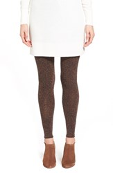 Women's Lemon 'Cushion' Tweed Footless Tights Walnut