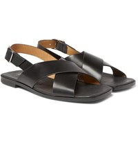 Sandro Leather Sandals Black