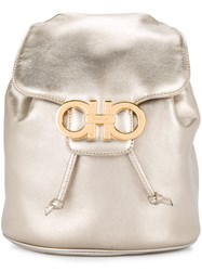 Salvatore Ferragamo Vintage Gancini Backpack Metallic