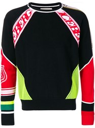 Iceberg Knitted Logo Panel Jumper Black