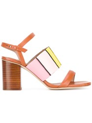 Paul Smith Strappy Block Heel Sandals Women Leather 37 Brown