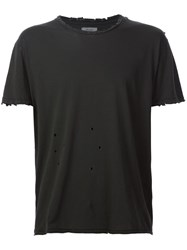 R 13 R13 Distressed T Shirt Black