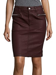 7 For All Mankind Pencil Skirt Burgundy